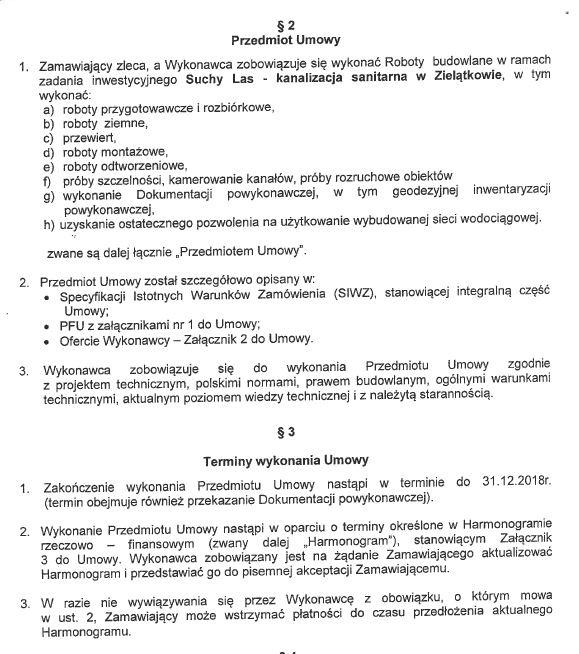 Przedmiot i termin wykonania zadań z umowy nr 233